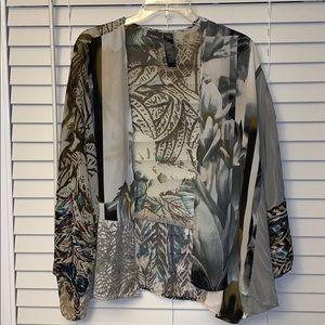 Chico's Traveler Collection - multi print kimono